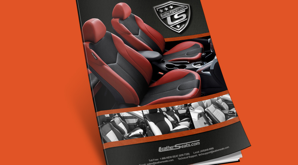 Catalogue design for retailer of automotive leather interior upholstery