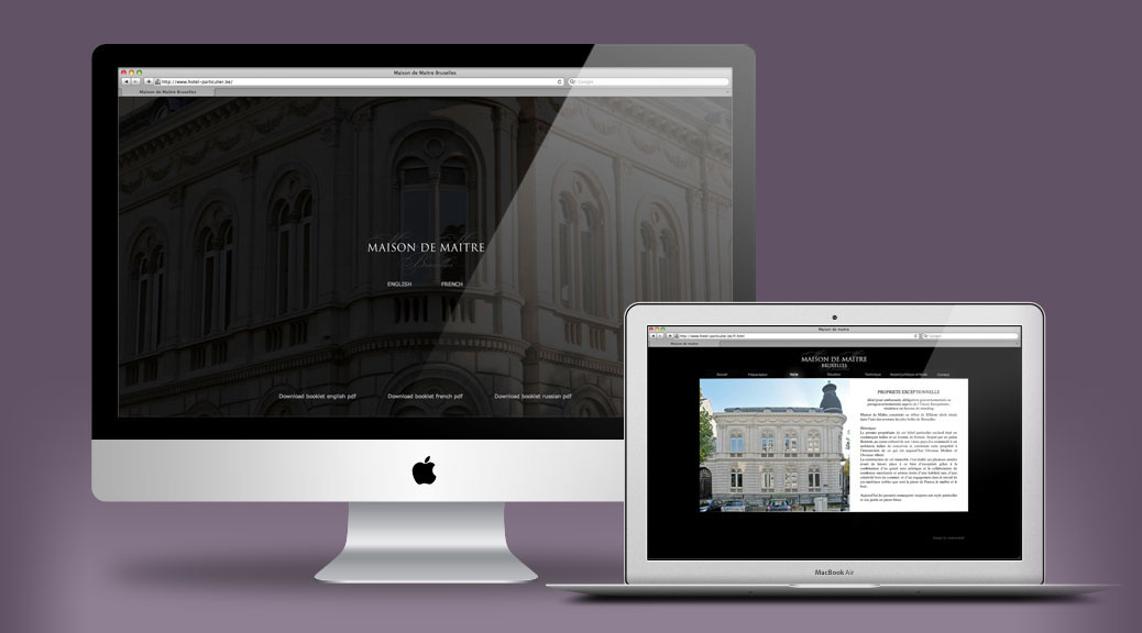 Website & brochure Maison de Maitre