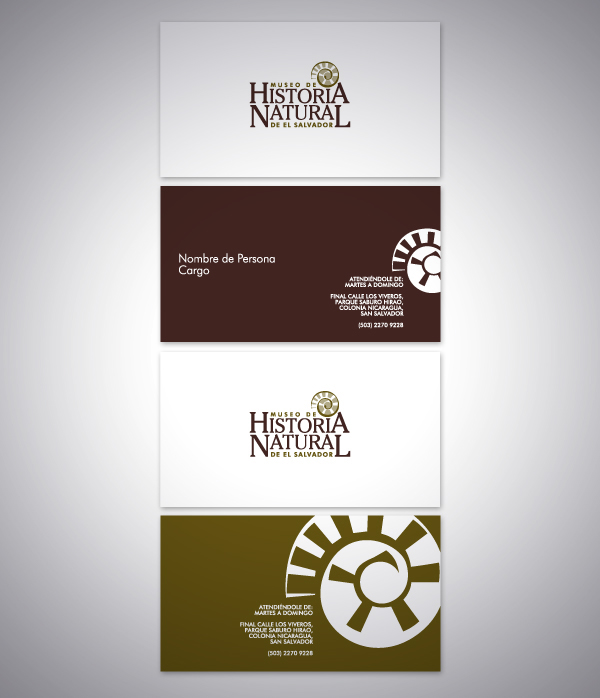 Business card brand identity