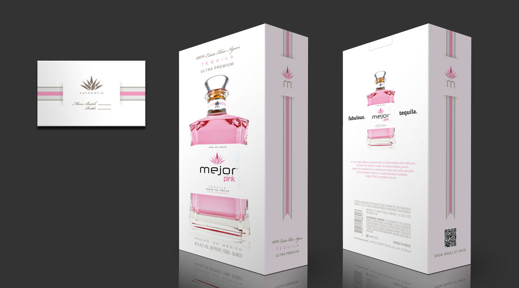 Package design for Pink tequila
