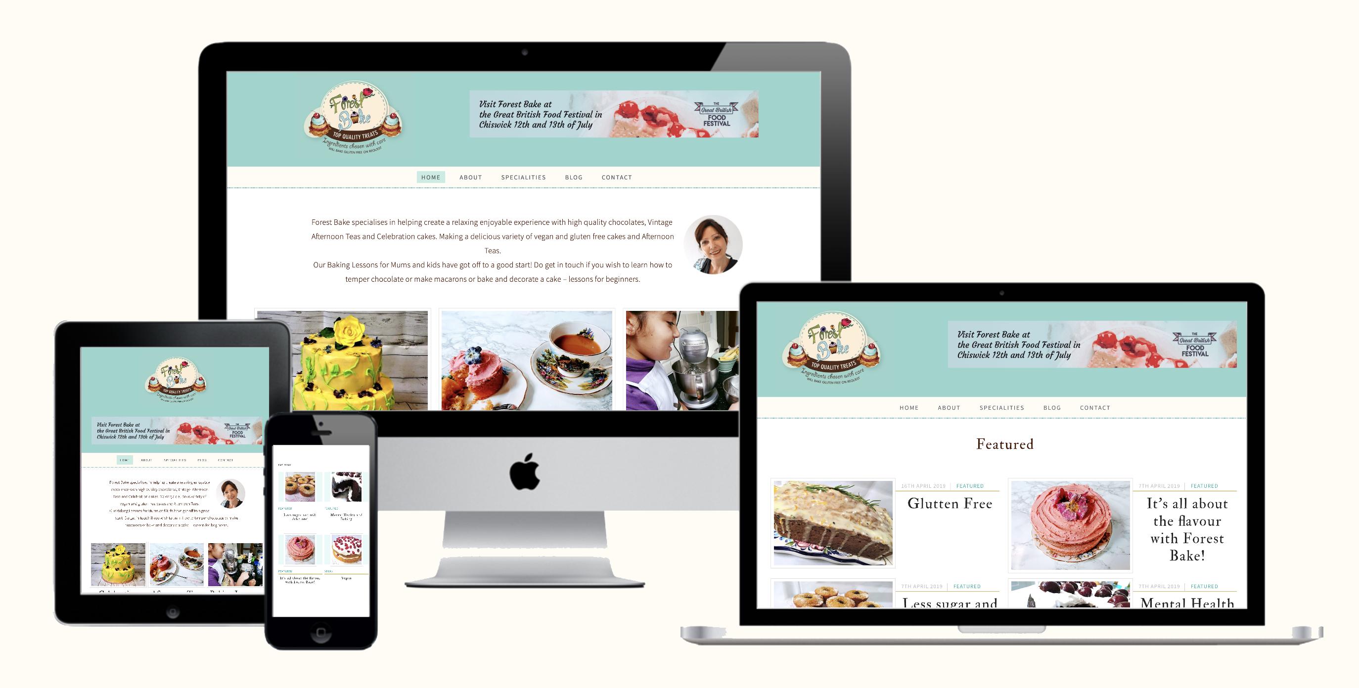 Forest Bake Website Redesign