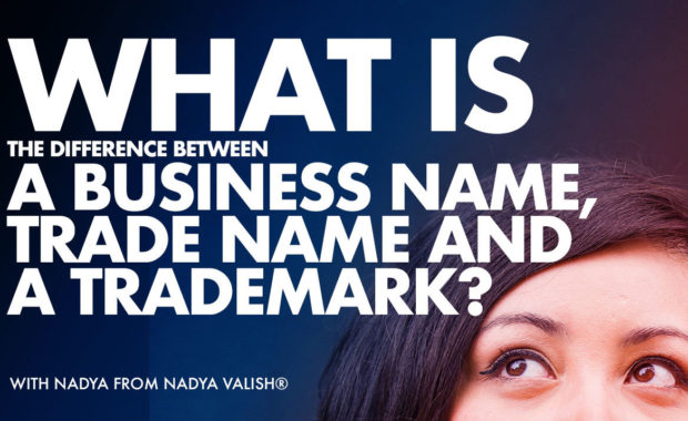What is the difference between a business name, trade name and a trademark